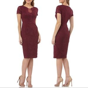 NWT JS Collections Lace Cocktail Dress Dark Berry